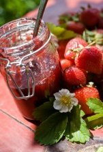Nothing tastes as good as Homemade Strawberry Jam.  Can it and savor year-round.  Many canning recipes on this page. #misshomemade | Thousands of recipes at MissHomemade.com