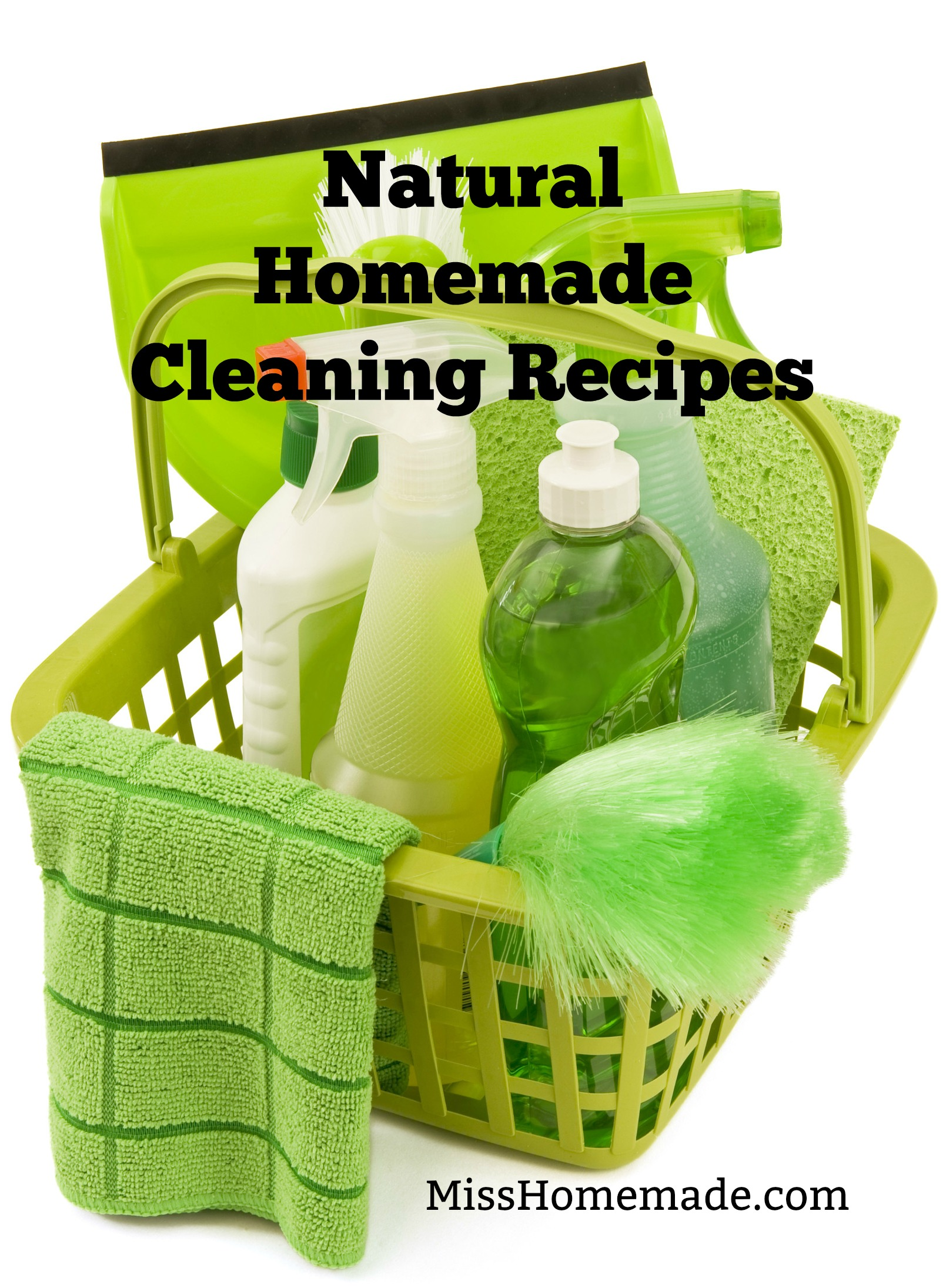 Natural Homemade Cleaning Products #misshomemade | Thousands of recipes at MissHomemade.com