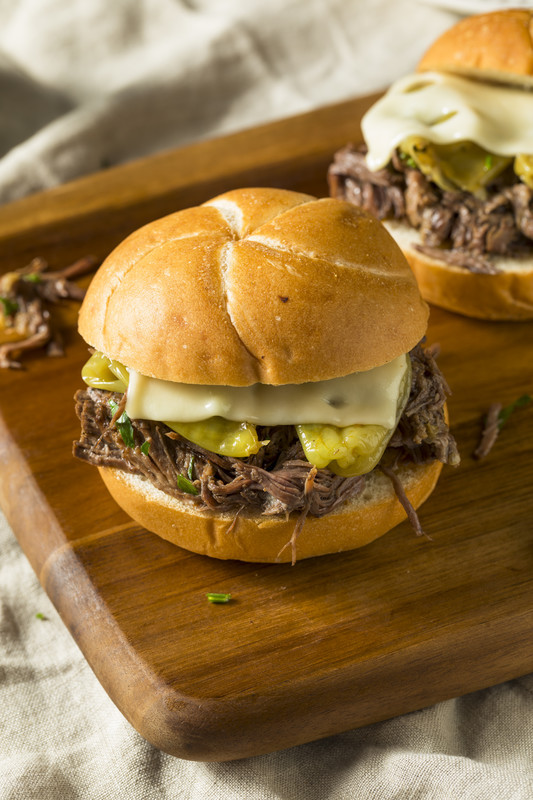 Mississippi beef roast, Mississippi pork roast or even Mississippi chicken in a slow cooker is divine and makes even better sandwiches.  #misshomemade