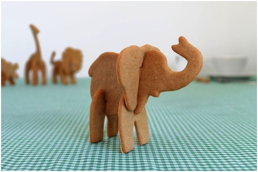 3D Elephant Cookie Cutters