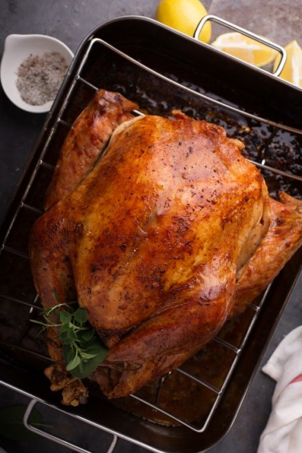 Quick roasting 90 minute turkey is the only way to go when cooking a turkey.  So easy to do and delivers a juicy turkey! #misshomemade