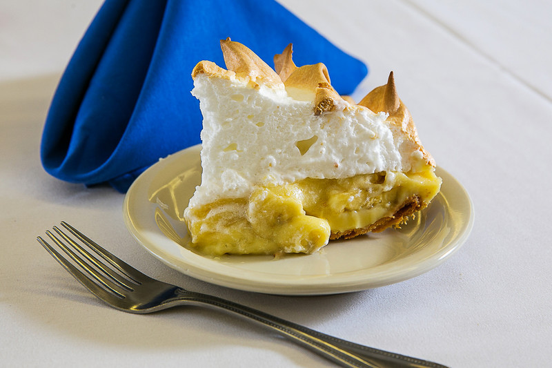 This old fashioned banana cream pie from scratch is so dreamy and creamy. Before cool whip and instant pudding, this is how a cream pie was made. #misshomemade