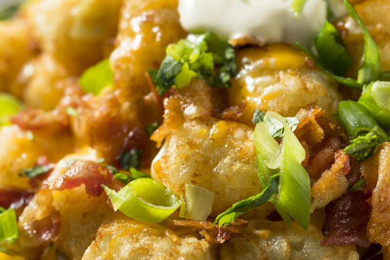 Loaded Tater Tot Casserole Recipe - a wonderful twist on the classic.  #misshomemade