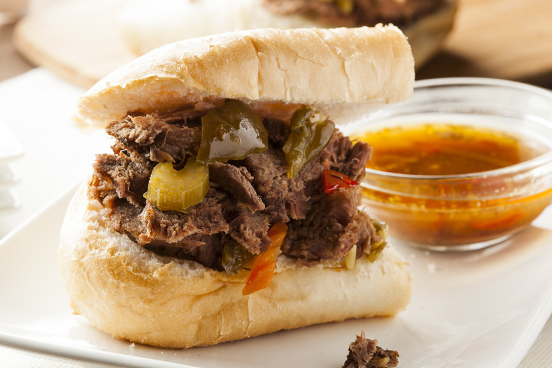 Dipped Italian Beef Sandwich - my mouth is watering just typing this.  All you need is a beef roast and a few ingredients and you will have one of the best sandwiches you've ever eaten. #misshomemade