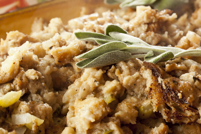 Old fashioned Thanksgiving stuffing recipe makes the best tasting dressing around. So moist and flavorful.  Drizzle with gravy or leave it as it is just be certain to make a big batch. #misshomemade