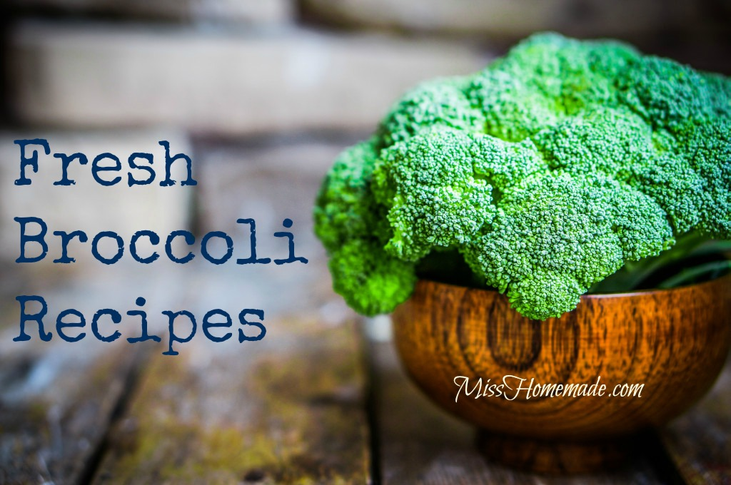 Fresh broccoli recipes that are amazing.  Now you can add more broccoli to your meals - easily.  They will be more nutritious and healthy; easy to make and tastes delicious.