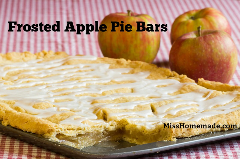 Frosted Apple Pie Bars are my favorite and  they disappear fast.  Find this recipe and more at MissHomemade.com