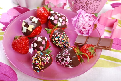 Chocolate and Candy Covered Strawberries