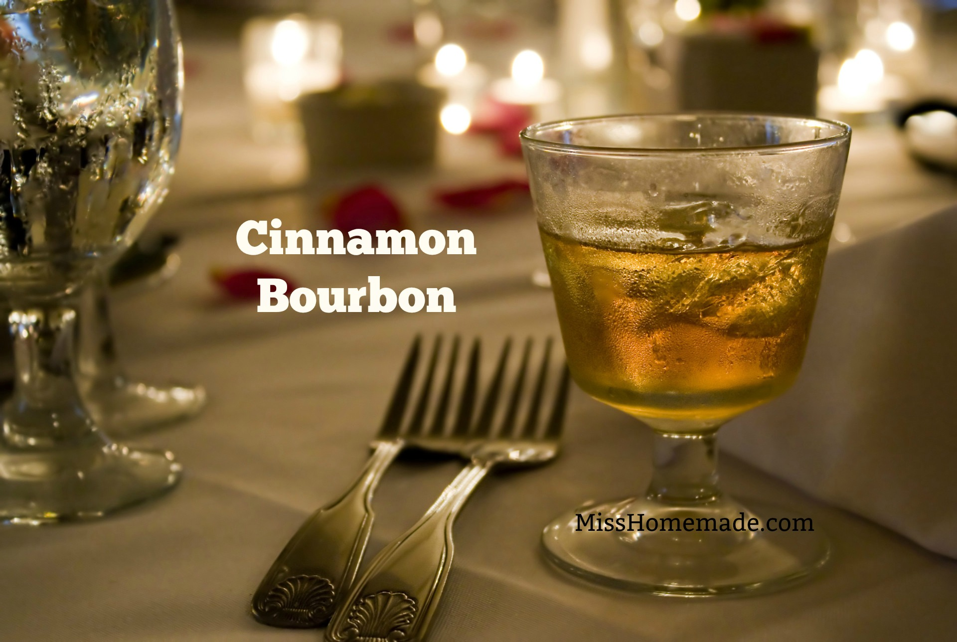 How to Make Holiday Cinnamon Bourbon (Brandy, Whiskey, Vodka too) - this and more at MissHomemade.com