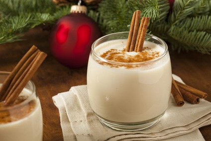 Non Alcoholic Eggnog and Christmas Cocktail Drinks