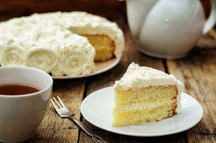 French Almond Vanilla Cake Recipe