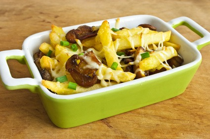 French Fry Hot Dish with hamburger and bacon