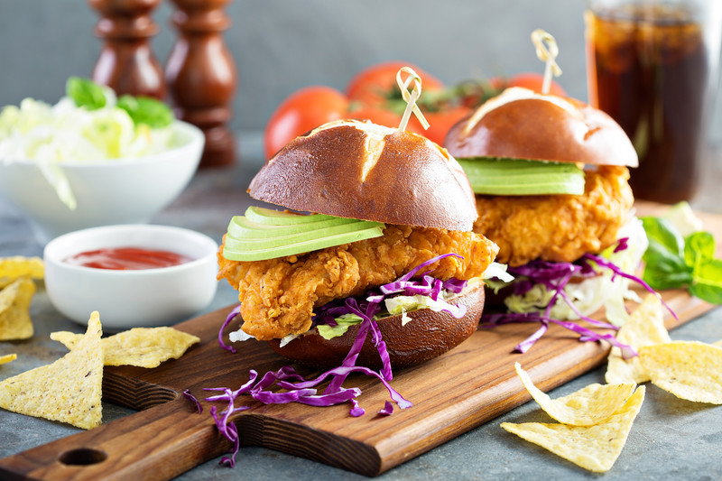 My southern fried chicken sandwich is unforgettable. So crispy and juicy and you can top it with spicy mayo or even avocado mayonnaise; recipes included. #misshomemade