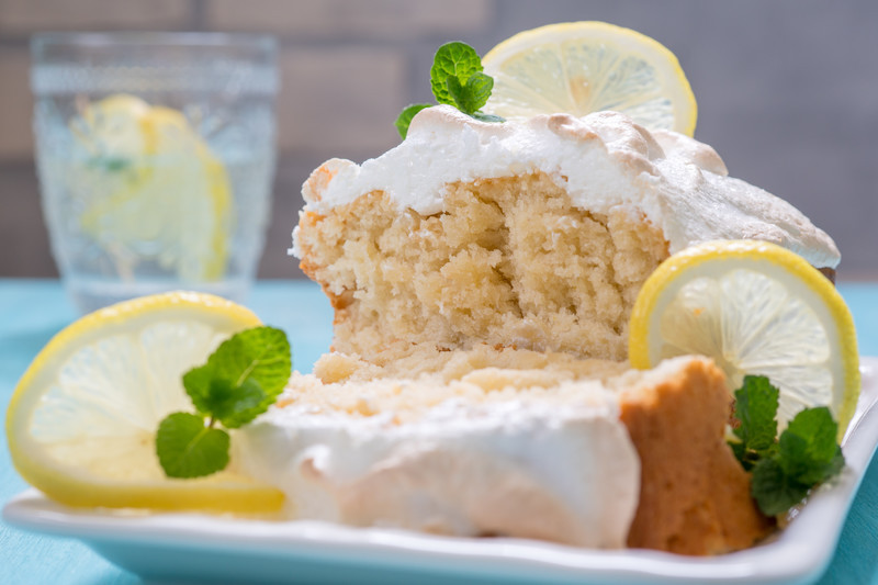 BEST Lemon Meringue Cake from Scratch - This lemon meringue cake will make your toes curl.  Do you want to experience an OMG moment? Then you must make this cake.  #misshomemade