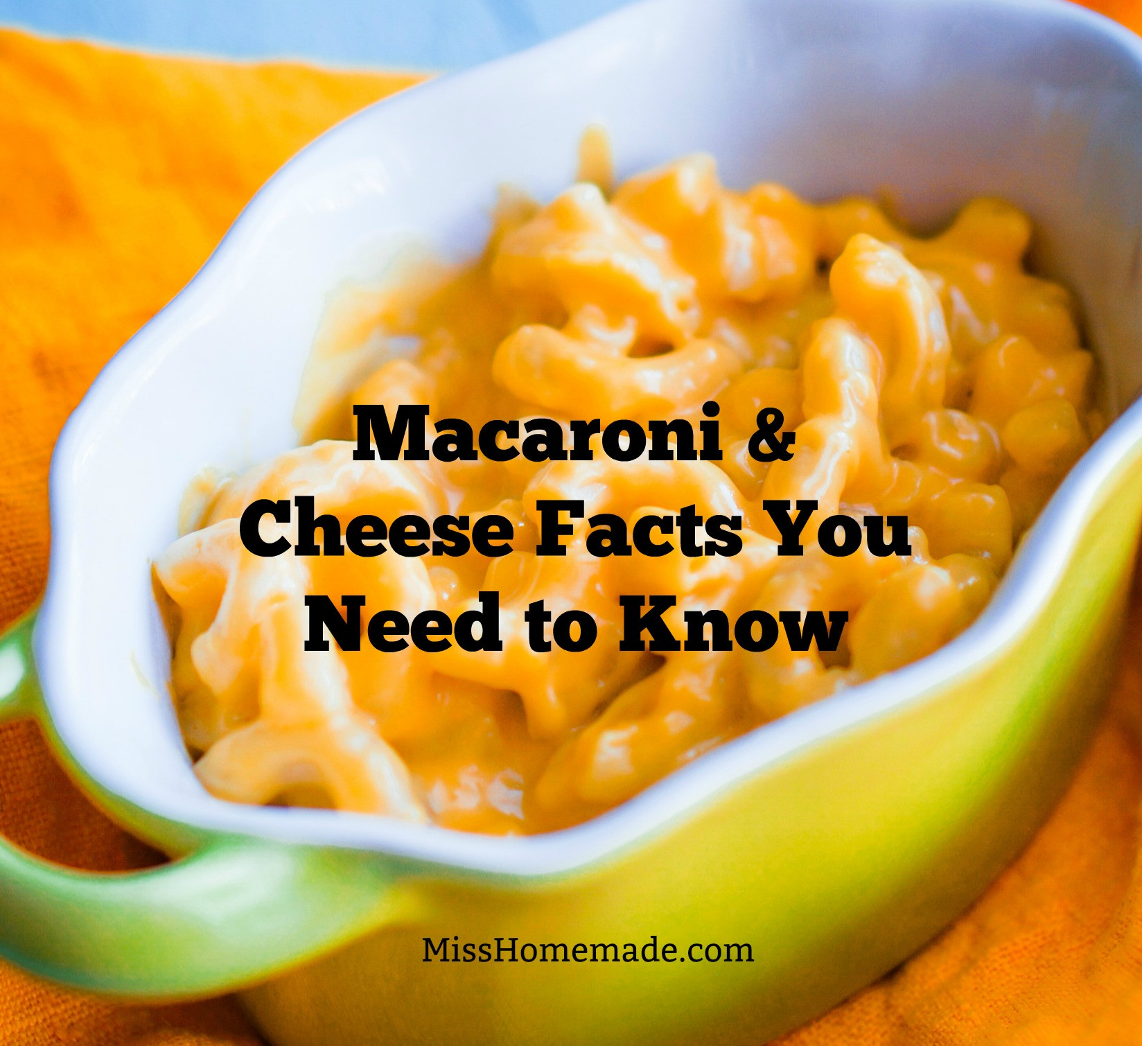 Macaroni and Cheese Facts You Need to Know - MissHomemade.com