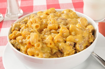Cheesy Beef Macaroni Hot Dish