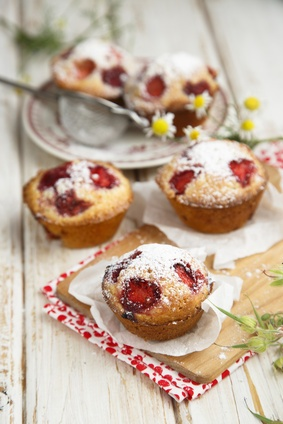 Homemade Strawberry Muffins Recipe