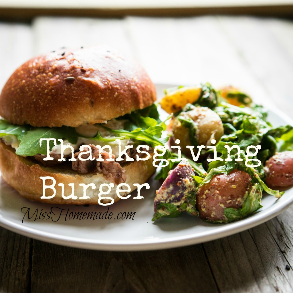 Juicy Thanksgiving Burger - not just for leftovers; enjoy it year round!