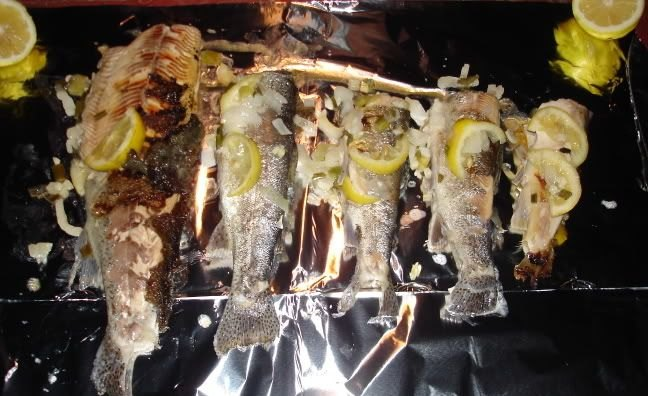 Foil Baked Whole Trout