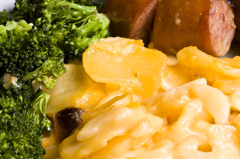 This is the best au gratin potatoes recipe you will ever find. Pinned thousands of times, discover what heaven on a fork tastes like.  #misshomemade