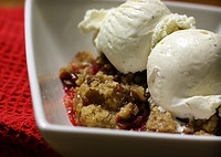 Homemade Cherry Cobbler from scratch is a delight served warm with vanilla ice cream. #misshomemade | Thousands of scratch recipes at MissHomemade.com