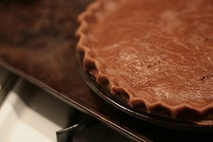 Chocolate Pie Crust before it is baked.   Use for strawberry, peanut butter or chocolate meringue pie.