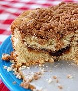 Best Homemade Coffee Cake from Scratch - a  delicious coffee cake with a cinnamon swirl in the center is a tasty twist.  #misshomemade