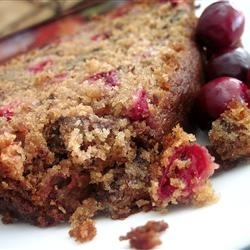 Moist Cranberry Quick Bread is a delight with a cup of coffee and a friend.