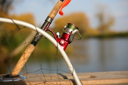 open faced fishing reel
