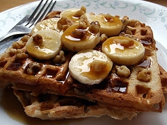 Black Walnut and Banana Waffle Recipe