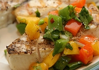 If you grill fish or chicken with a little cayenne this mango salsa is the perfect topping. #misshomemade | Thousands of scratch recipes at MissHomemade.com