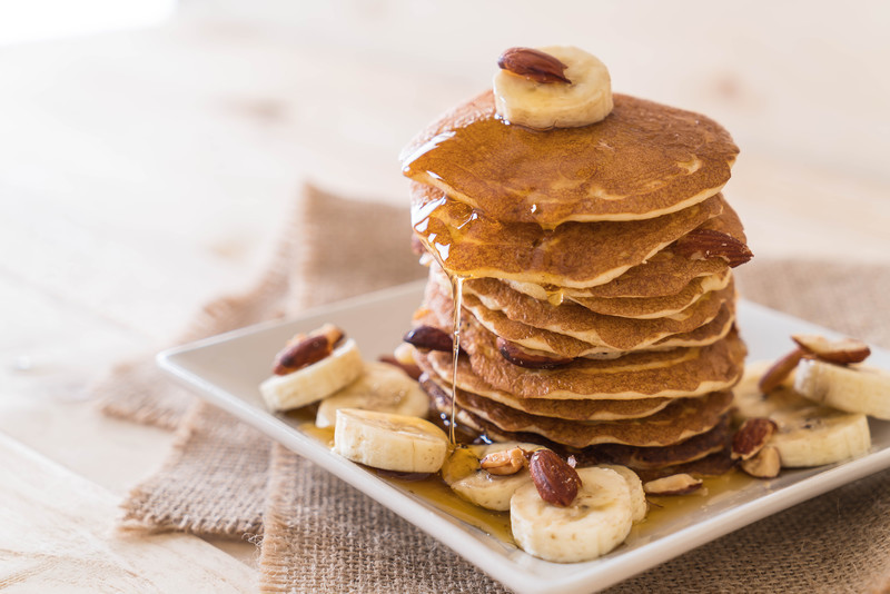 You have found my best pancake recipe. Say goodbye to Aunt Jemima after you taste these babies. Easy to make and delicious with bananas and almonds #misshomemade