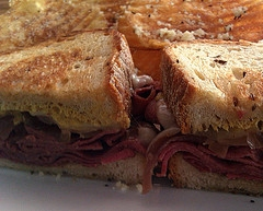 Homemade Corned Beef made at home (Shown: Reuben Sandwich)