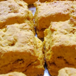 Buttery Sweet Potato Biscuits are so delicious slathered with my maple butter.  Try it now. #misshomemade