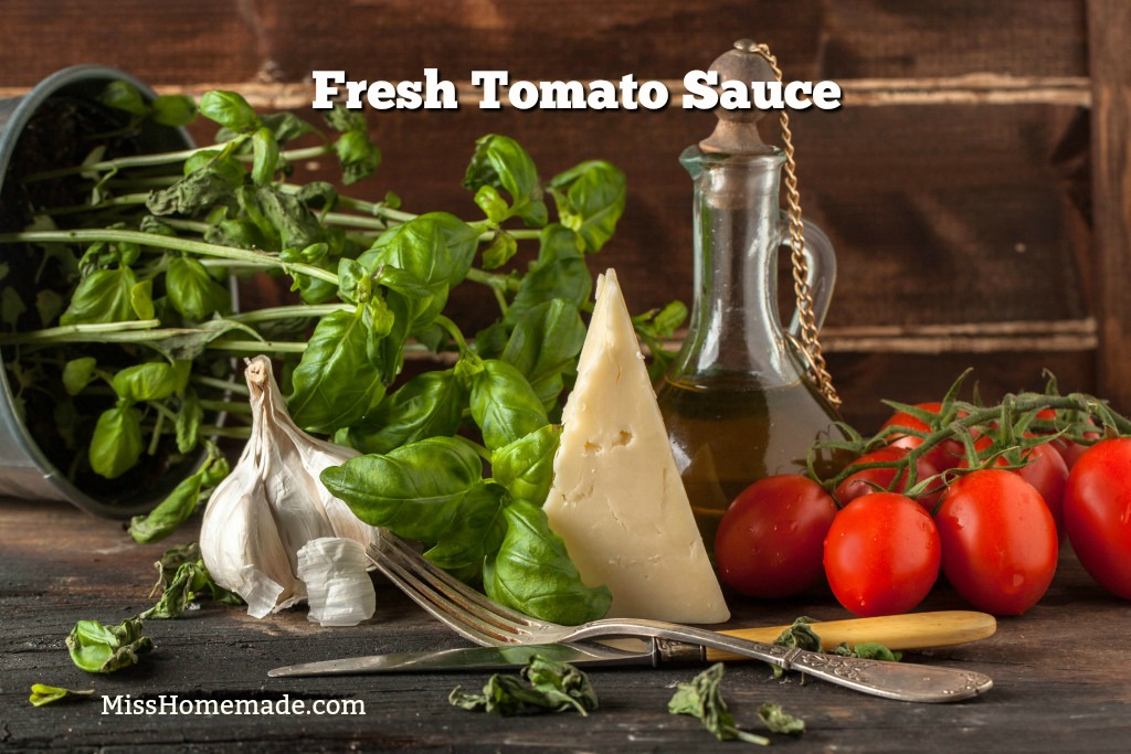 How to make Tomato Sauce from Scratch - a simple sauce bursting with flavor; nothing like it.