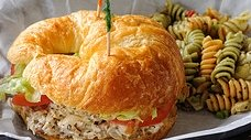 Easy Chicken Salad Croissant Sandwich #misshomemade | Thousands of recipes at MissHomemade.com