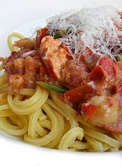 Spaghetti with Crab and Shrimp Sauce